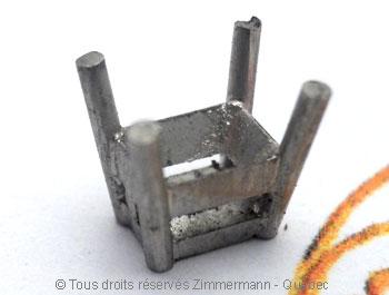 Solitaire palladium avec diamant taille émeraude de 43/100 ct Sopa0825