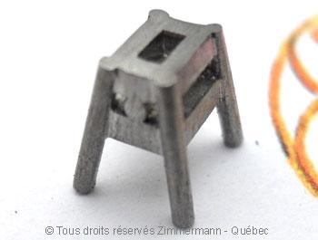 Solitaire palladium avec diamant taille émeraude de 43/100 ct Sopa0826