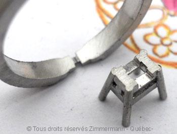 Solitaire palladium avec diamant taille émeraude de 43/100 ct Sopa0827