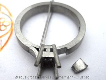 Solitaire palladium avec diamant taille émeraude de 43/100 ct Sopa0829