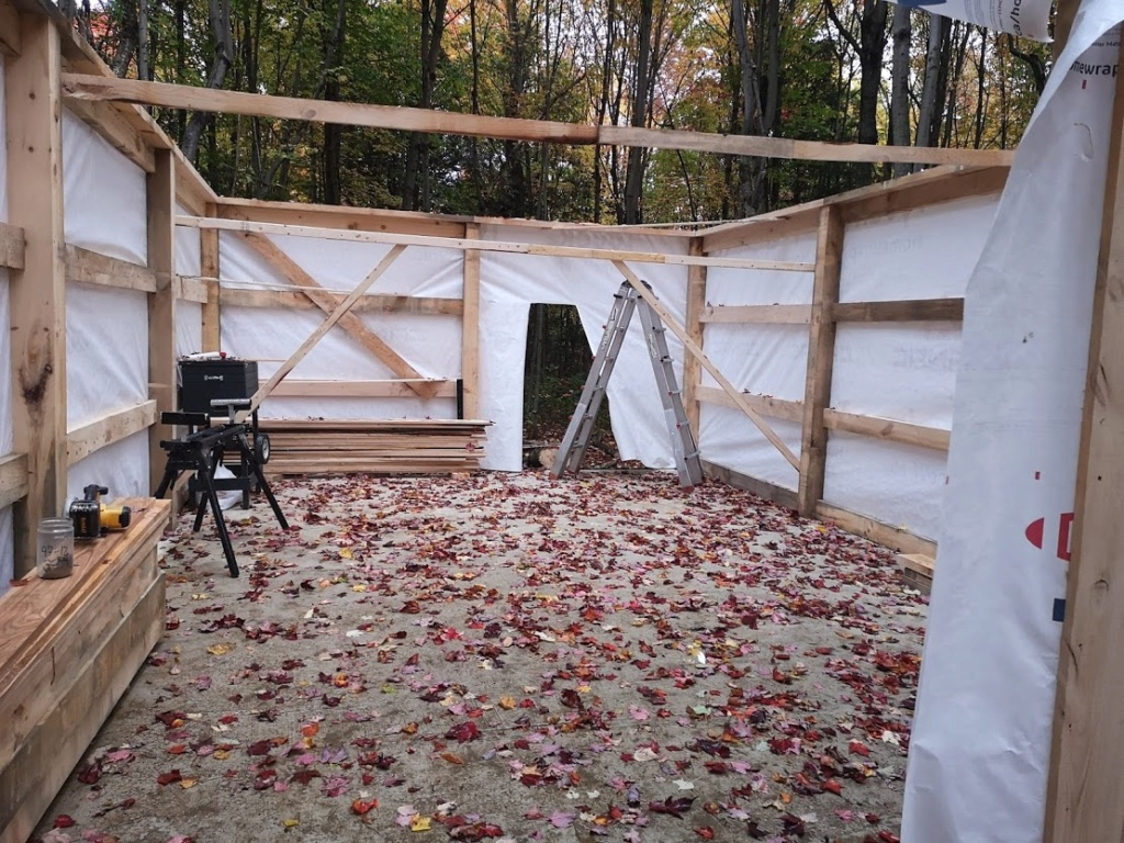 Construction de notre cabane 610