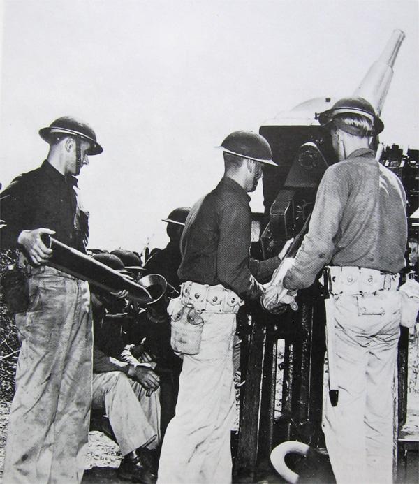 Artillerie cotiere lourde US dans le pacifique A110