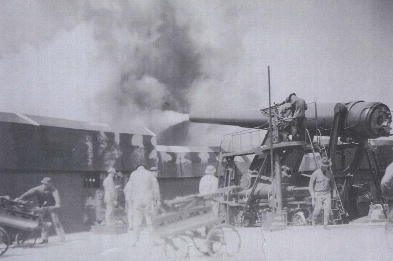 Artillerie cotiere lourde US dans le pacifique A21610