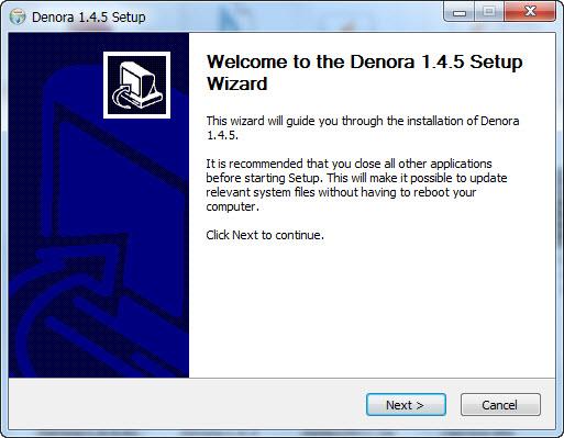 מדריך התקנה Denora 1.4.5 על Windows 7 10-11-26