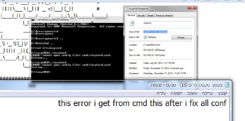 Guide install Inspircd on Windows 7 12-11-18