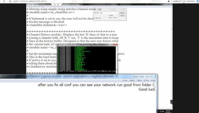 Guide install Inspircd on Windows 7 12-11-20