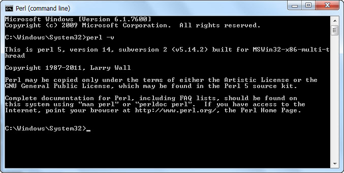 Guide install Perl on Windows 7 13-11-16