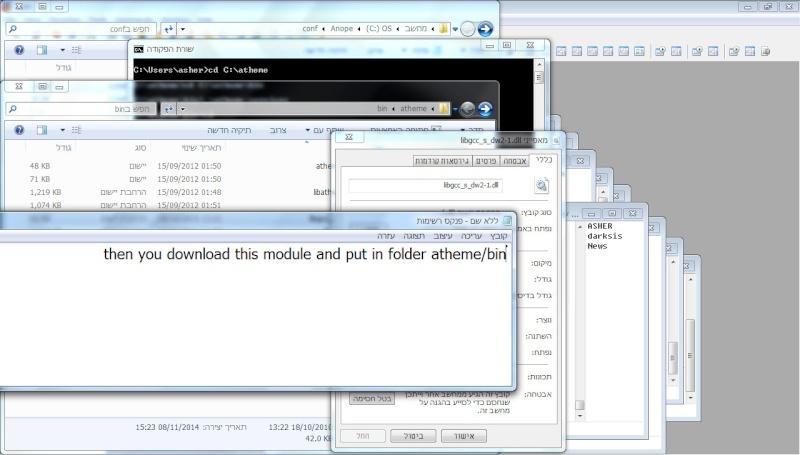 מדריך התקנה ATHEME-SERVICES על Windows 7 21-11-12
