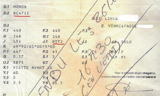 carte grise mtt2 moto bridée bridage 34 cv (mtt1) tout savoir sur le sujet   Page 2