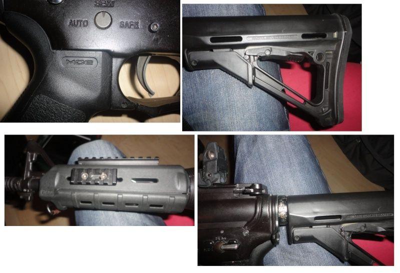 M4 cqb magpulisé, mitaine + masque et chargeur Li-po Acces_10