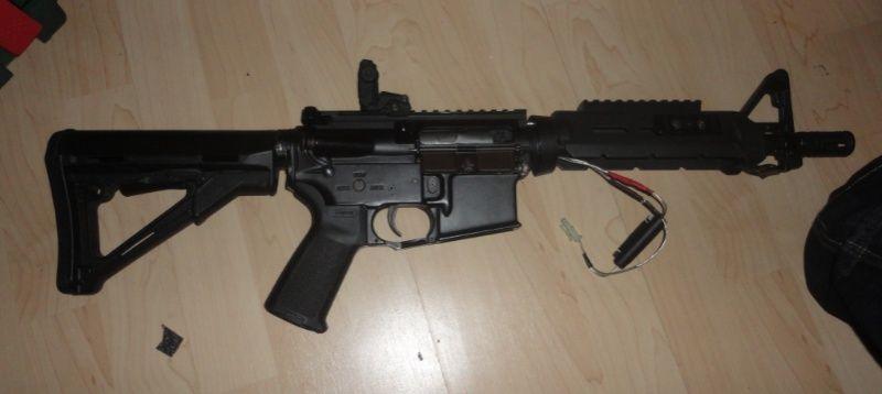 M4 cqb magpulisé, mitaine + masque et chargeur Li-po M4_aps10