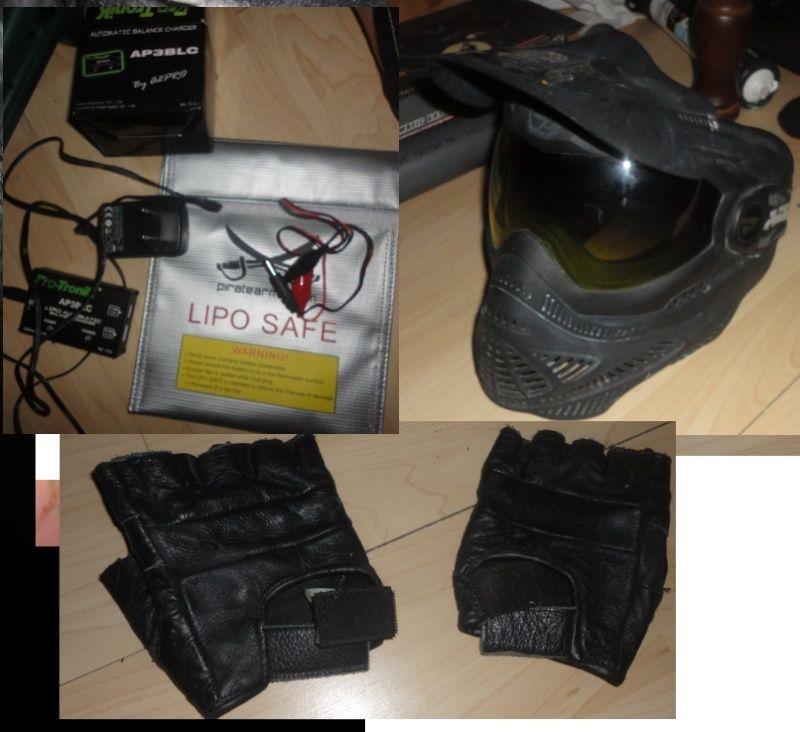 M4 cqb magpulisé, mitaine + masque et chargeur Li-po Mitain10