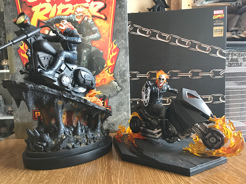 IRON STUDIOS : GHOST RIDER Art Scale 1:10 Battle Diorama Series Ironst16