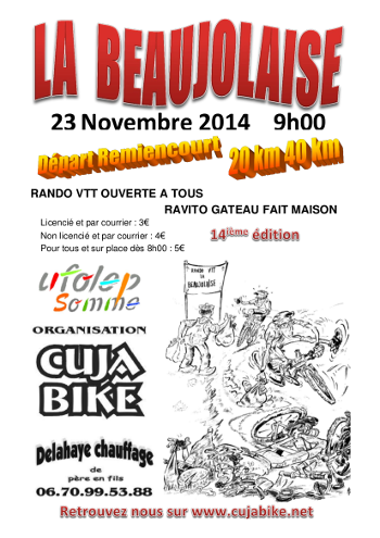 Remiencourt (80), le 23 novembre 2014 Affich10