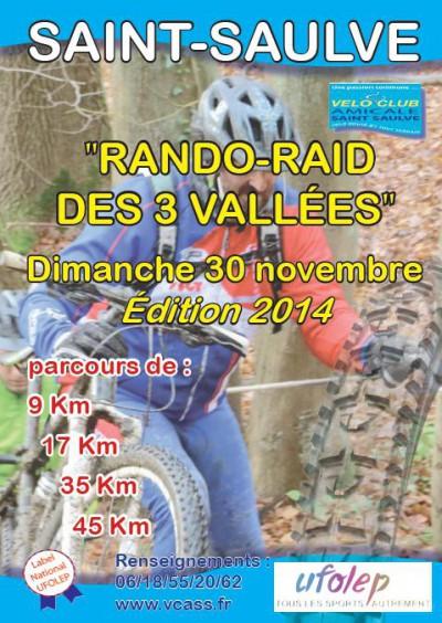 Raid des 3 vallées, Saint Saulve (59), 30 novembre 2014 Vallee10