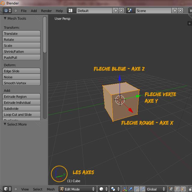 [Débutant] [Blender 2.6 et 2.7] Présentation et découverte de Blender 2.61 Blende33