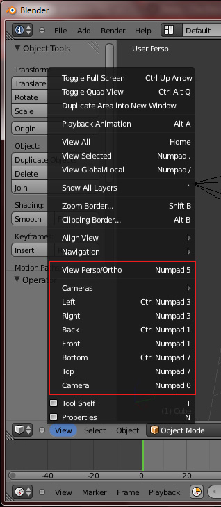 [Débutant] [Blender 2.6 et 2.7] Les vues avec Blender 2.63 Menu10