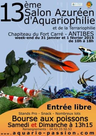 13éme Salon Azuréen de l'Aquaro et Terrario d'Antibes (06) Affich10