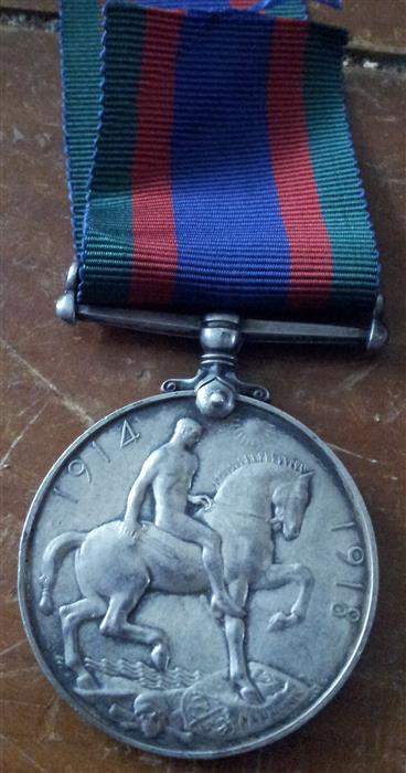 My little orphan BWM. 69th Canadian Infantry. Medal_11