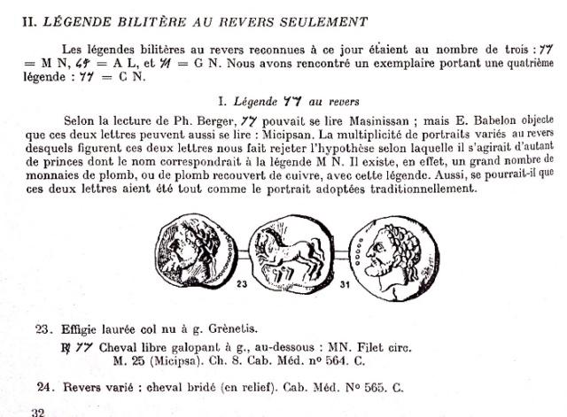 Unité de bronze numide Massinissa / Micipsa Img_9212