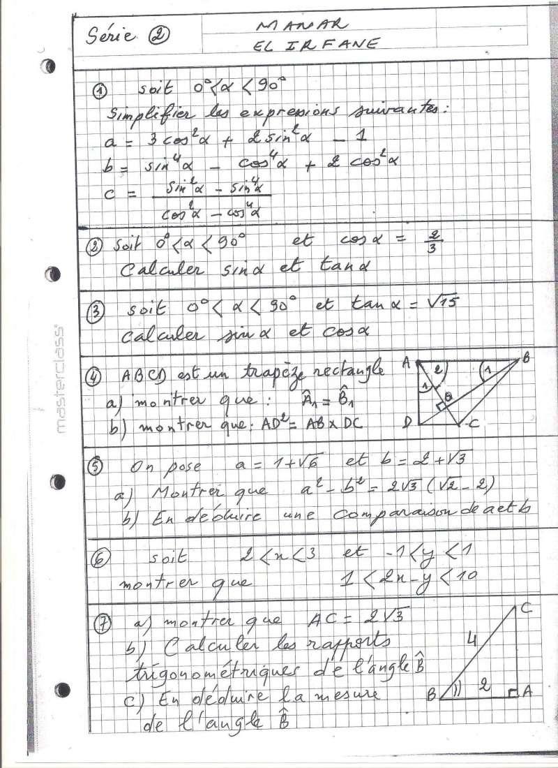 تمارين بالفرنسية حول الحساب المثلثي والترتيب Photo_14