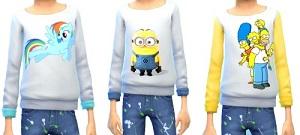 Для детей (топы, рубашки, свитера) Light249