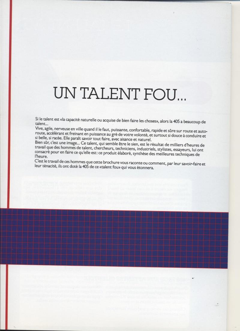 Brochure Peugeot 405  Brochu13