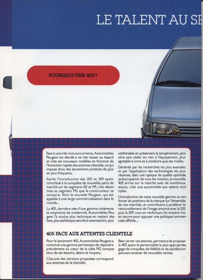 Brochure Peugeot 405  Brochu14