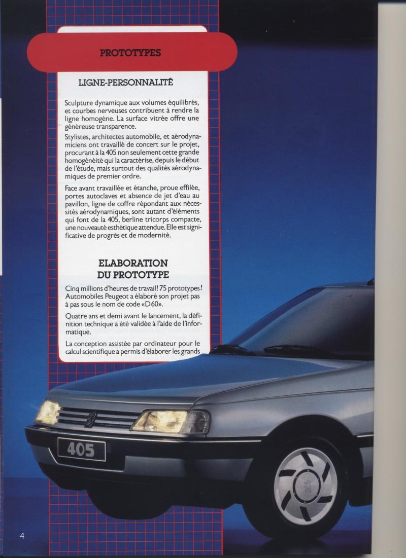 Brochure Peugeot 405  Brochu16