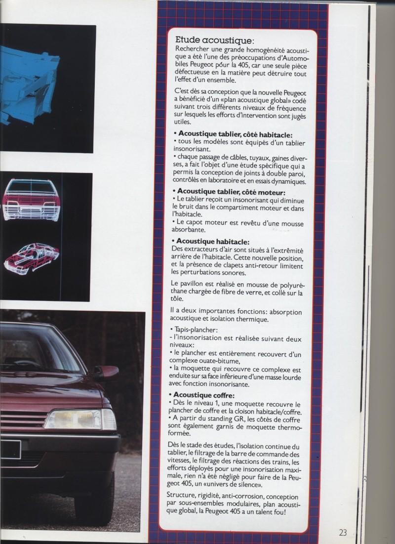 Brochure Peugeot 405  Brochu21