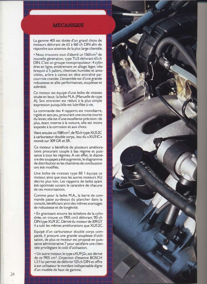 Brochure Peugeot 405  Brochu22
