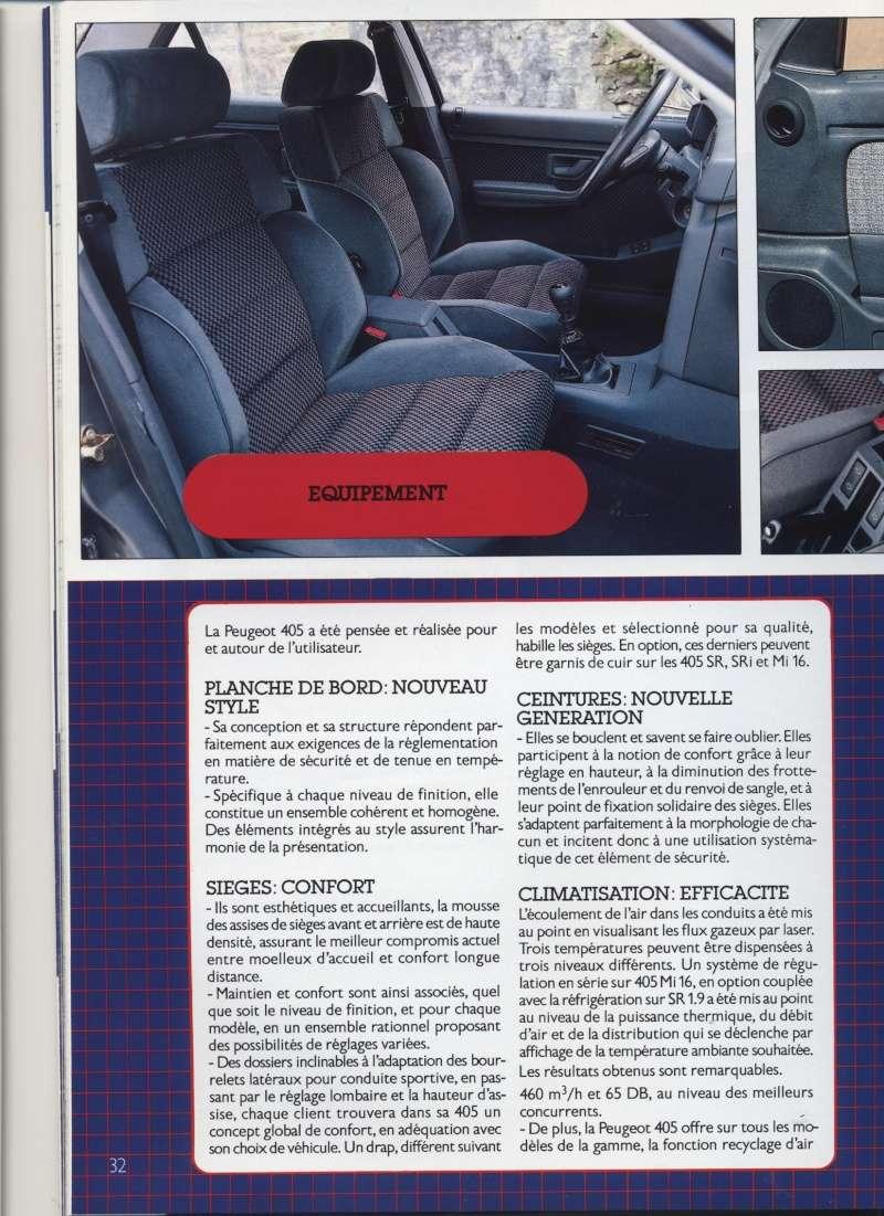 Brochure Peugeot 405  Brochu30