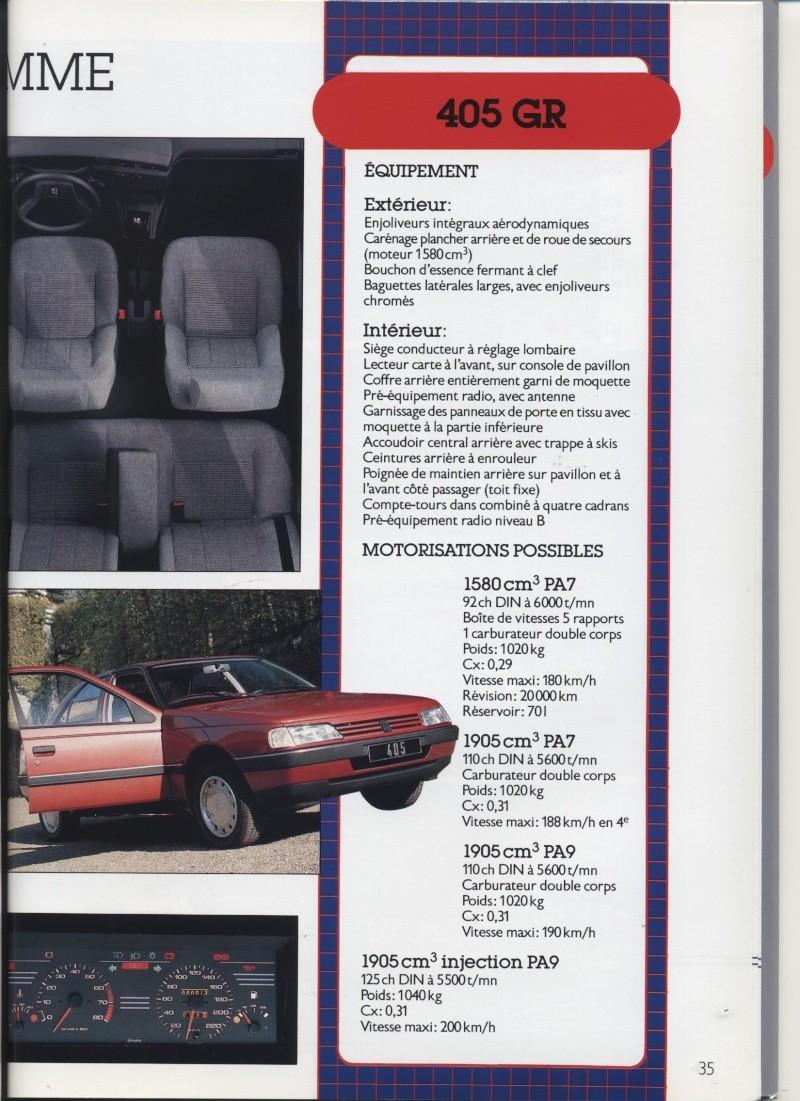 Brochure Peugeot 405  Brochu33