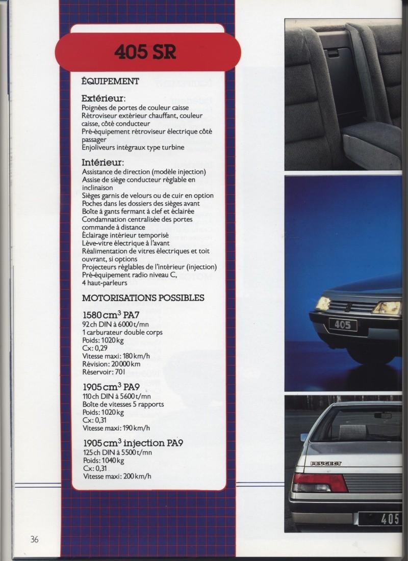Brochure Peugeot 405  Brochu34