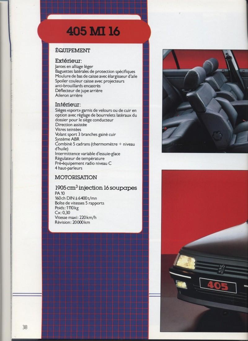 Brochure Peugeot 405  Brochu36