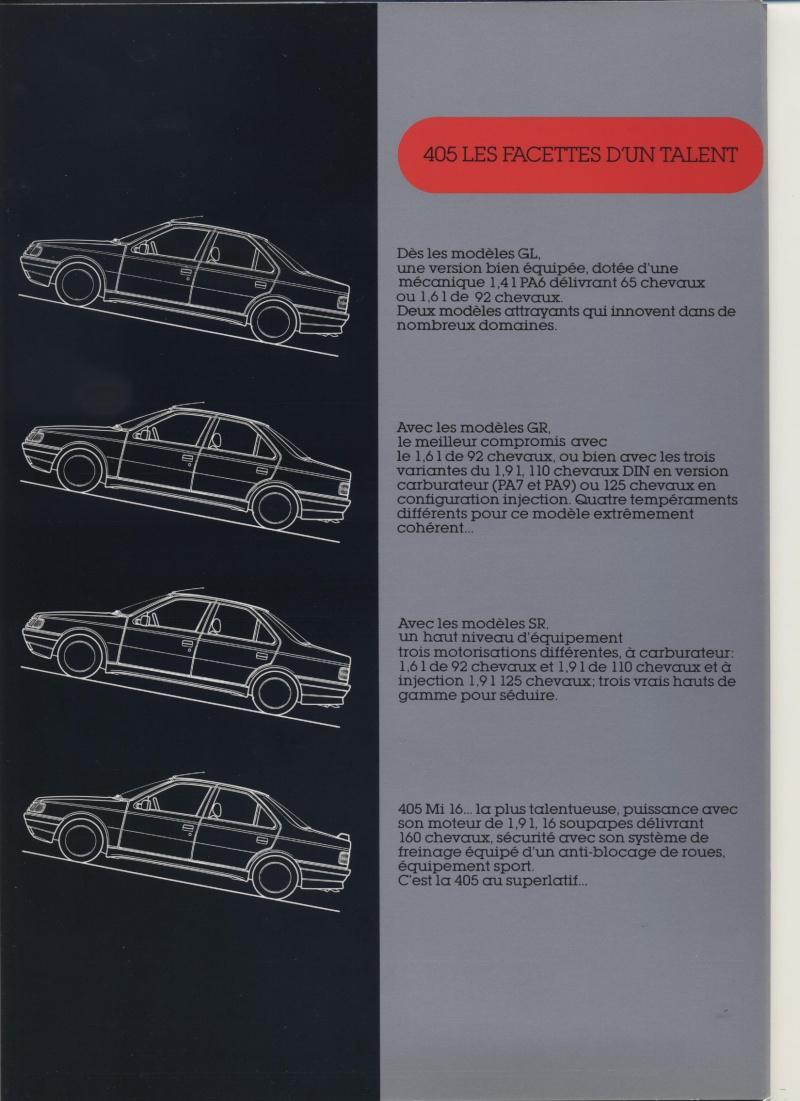 Brochure Peugeot 405  Brochu39