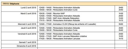 Planning prévisionnel 1113