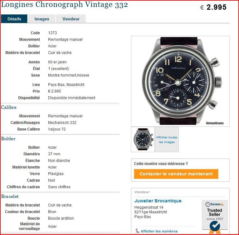 Longines type aviation Chronographes très rares, avec et sans lunette, compteur des minutes et aiguilles différentes des deux versions Encore10