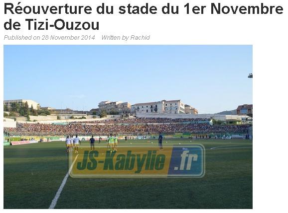 [Discussions] Stade 1er Novembre de Tizi-Ouzou - Page 4 20141118