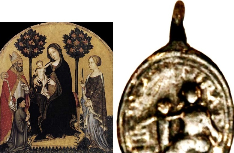 Médaille ND-de-Montserrat - fin XVII/début XVIIIème Itpeip10