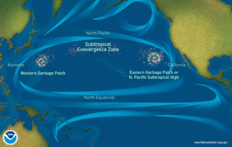 Mer de plastique du Pacifique nord (Great Pacific Garbage Patch) G410