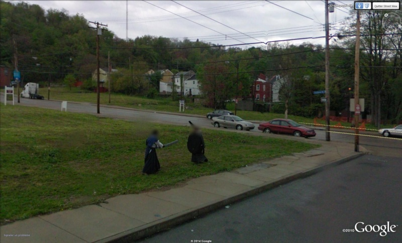 STREET VIEW : Guerriers  Pittsburg Pennylvanie USA Gue10