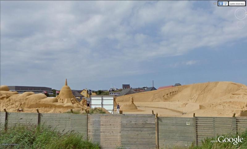 STREET VIEW : concours de châteaux de sable Sondervig Danemark Sab10
