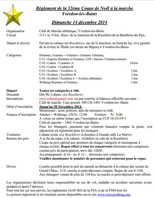 Coupe de Noël à Yverdon (Suisse), 10km: 14/12/2014 Yverdo10