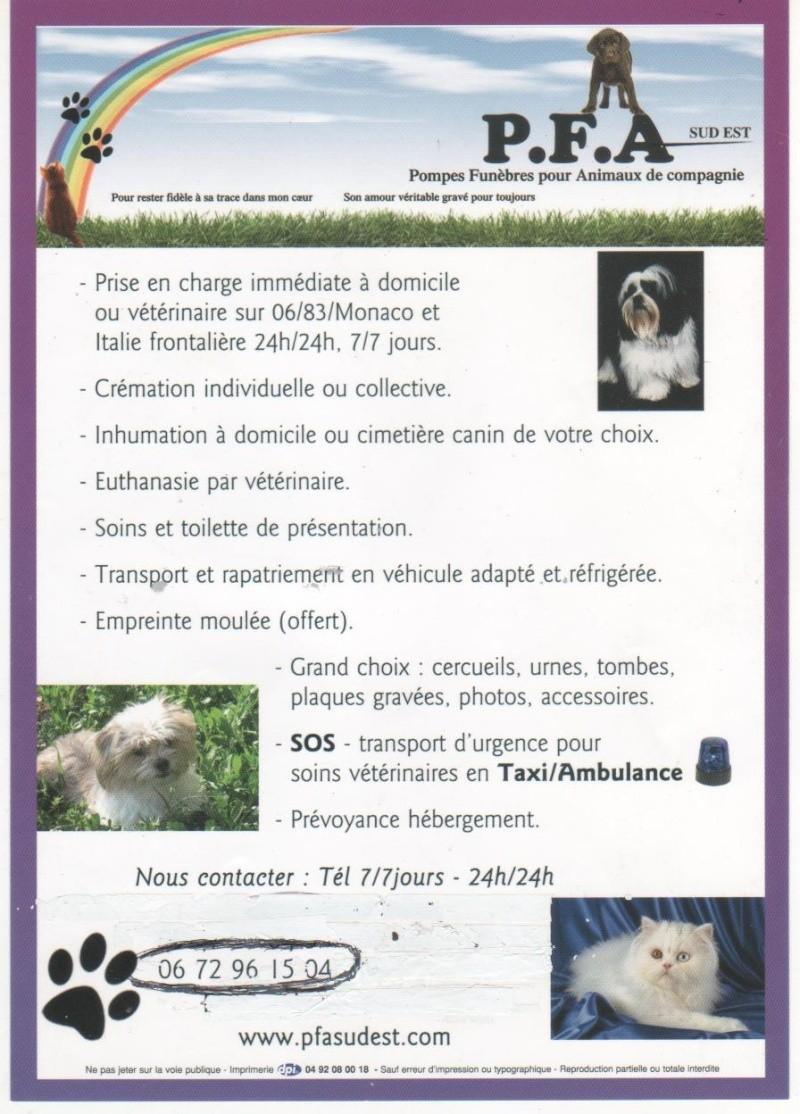 P.F.A pompes funebres pour animaux domestiques Affich10