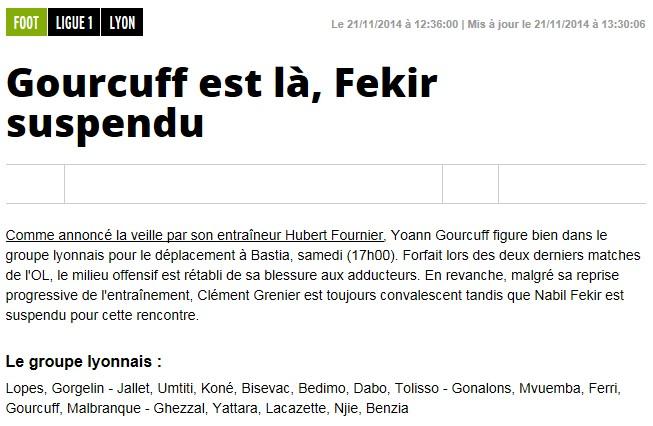 J14 / Jeu des pronos - Prono Bastia-Lyon S23