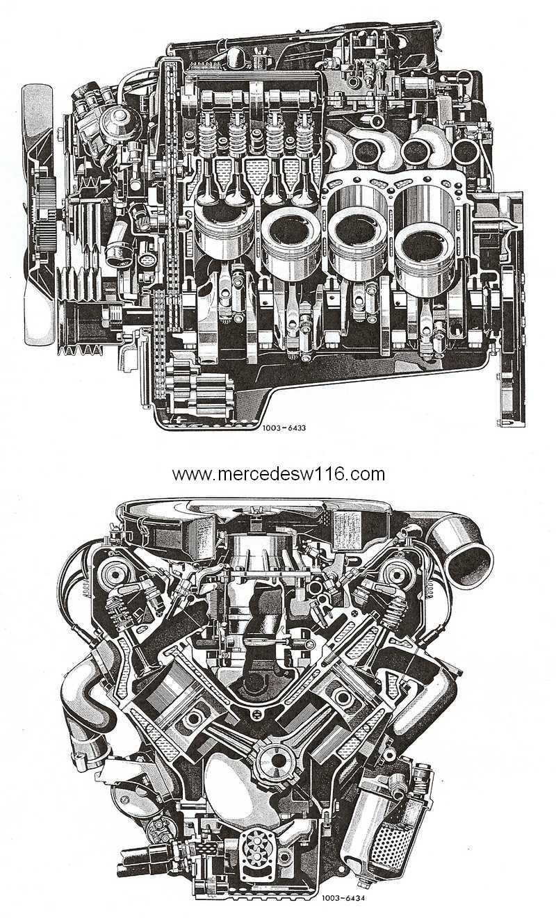 Le moteur M100 de la 450 SEL 6.9 Coupe_10