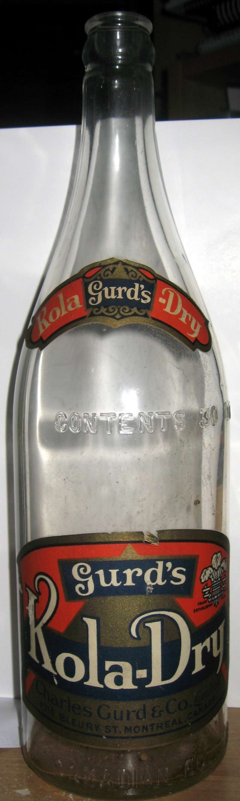 wow gurd`s kola dry  30 oz  etiquette  Gurd_k10