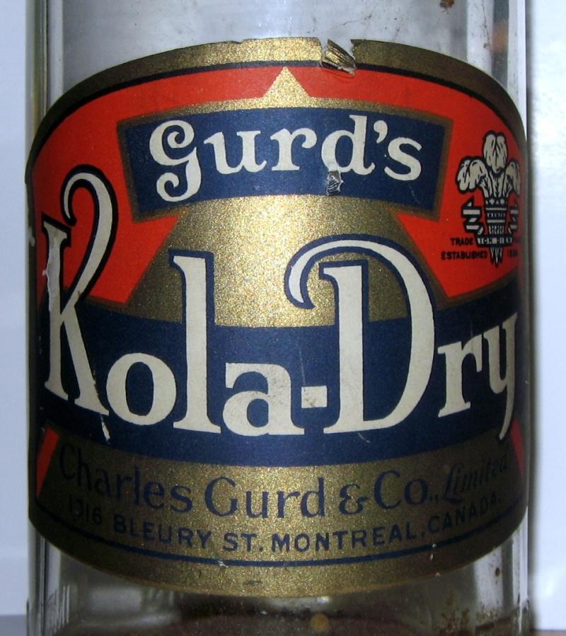 wow gurd`s kola dry  30 oz  etiquette  Gurd_k11
