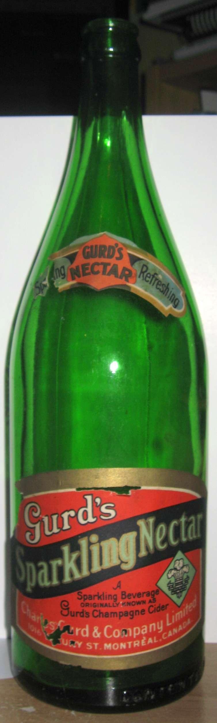 gurd`s sparkling nectar etiquette  30 oz  Gurd_s10